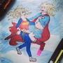 supergirl anad wondergirl by Krzeslicko