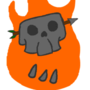 Flaming Skull Animated