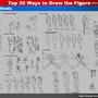 Top 20 Ways to Draw the Figure (7,8,9,10,11 The Five Manikins) by rainwalker007