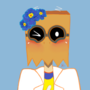 Flug with some flowers