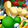 Bowser Yoshi huggles on the Beach