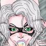 Felicia Black cat blow by Avaloniromman
