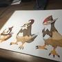 Starly Evolution | Pokemon Fanart by BrayArt
