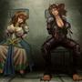 Scylla and Bastet by FASSLAYER