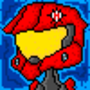 Pixelated Spartan by Hyenaedon