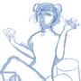 Gambling Girl sketch by Orionca