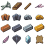 RPG Crafting Materials by BizmasterStudios