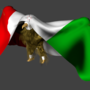 Eagle Holding Mexican Flag