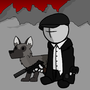 Mr. Musikant and dog by Mr-Musikant