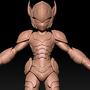 3d model cyborg
