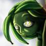 Peeping green banana