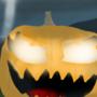 Pumpkin in the night