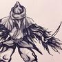 Inktober Day 18: Eileen The Crow by Dooffrie