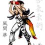 Jun Kazama doing Shiho-nage on Jin Kazama Colored by eMokid64