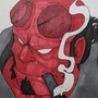 Hellboy - Inktober by lightrail