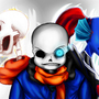Sans and the ghosts of his friends(Undain and Papyrus) by MaxGreen88