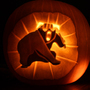 Dovahbear Pumpkin by Sundownx