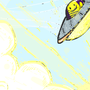 Inktober #19 UFO Sunrise by Cyberdevil