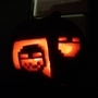 The lit up Time Fcuk pumpkin