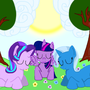 Twilight, Trixie and Starlight Taking a Nap by carmamazum
