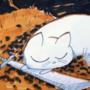 Mochi rests