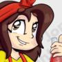 Animated Bottle-Cap Girl