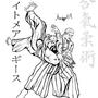 Geese Howard doing Tenchi-nage on Heihachi inked by eMokid64