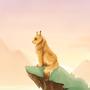 Lynx on a hill