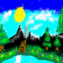The Joy of Mario Painting by MykertheGeek
