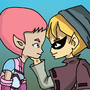 Code Lyoko: Jeremy and Aelita on Lyoko together by LuiizeElizabete
