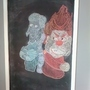 Jack Frost and Heat Miser in chalk