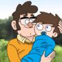 Ford Pines with his son Gregory Pines (Request) by VitorRafaelLealCarva