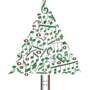 Musical Notes Christmas Tree Card