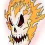 Skull on fire by darkaraya02