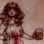 Crazed Beer Maid
