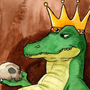 Watercolor 01: King Croc