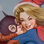 Batgirl and Supergirl Sexy Xmas