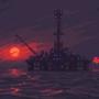 Oil rig by Kldpxl