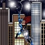 Spiderman and MJ skyline swing