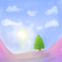 Uuhhhhh, Tree Between Two Slopes or something I dunno by Jomoko