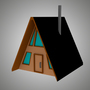 A-Frame Cabin (Low-Poly)