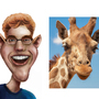 Caricature - Crossing Ezra with a Giraffe