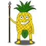 Pineapple with a spear!