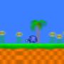 sonic running in green hill