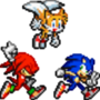Sonic tails and knucles run