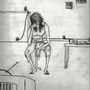 Depressed smoking girl by SuperLaserBeamPanda