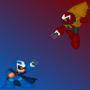 Megaman vs. Protoman by Claz