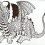 Dragon Drawn In Ink