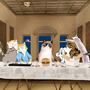 The Last Supper with the Cat's of the Internet by JasmineTodd