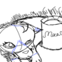 Commission Sketch- Mocha with Moca